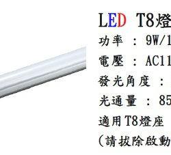 LED T8燈管