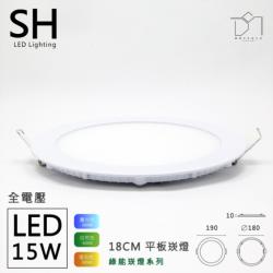 凱得米 18cm 15w 超薄平板燈 H10mm
